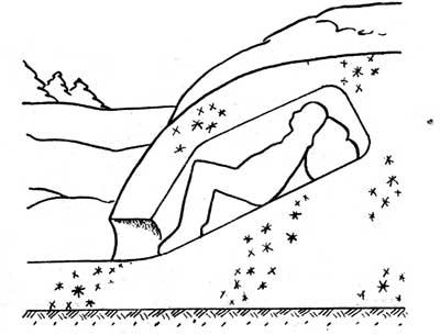 Снежная нора, выкопанная в