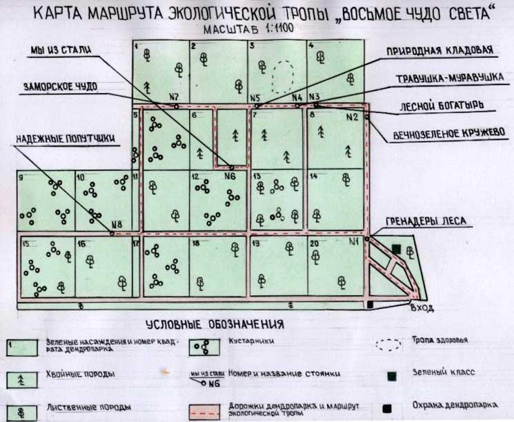 Карта маршрута экологической