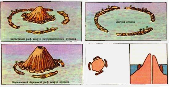 Схема развития атолла