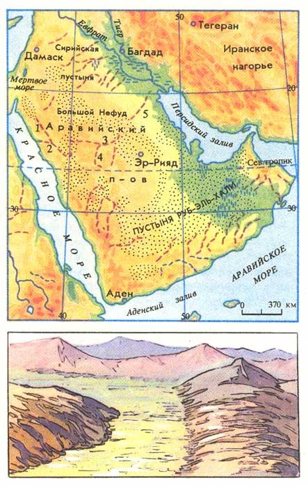 Где находится аравийская пустыня
