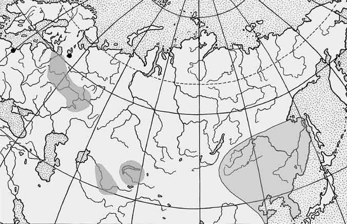 Ротан — Perccottus glenii: карта ареала (область распространения)
