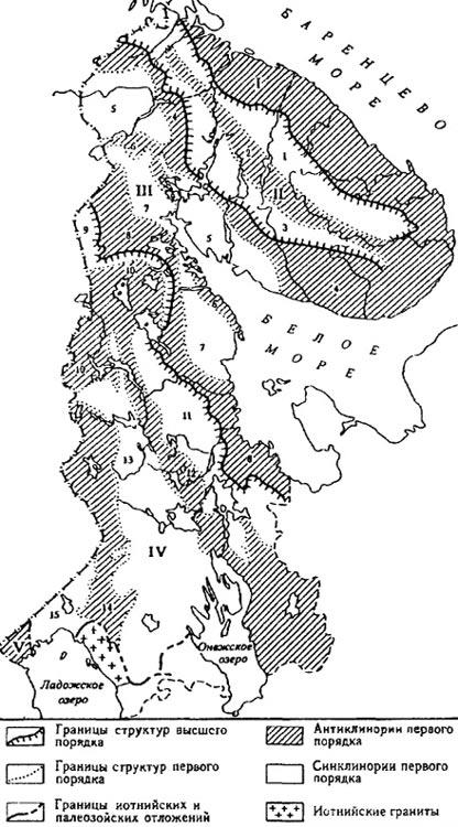 Тектоническая схема Кольского