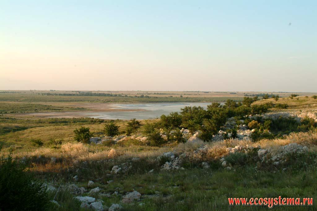 Водохранилище в полупустыне зона